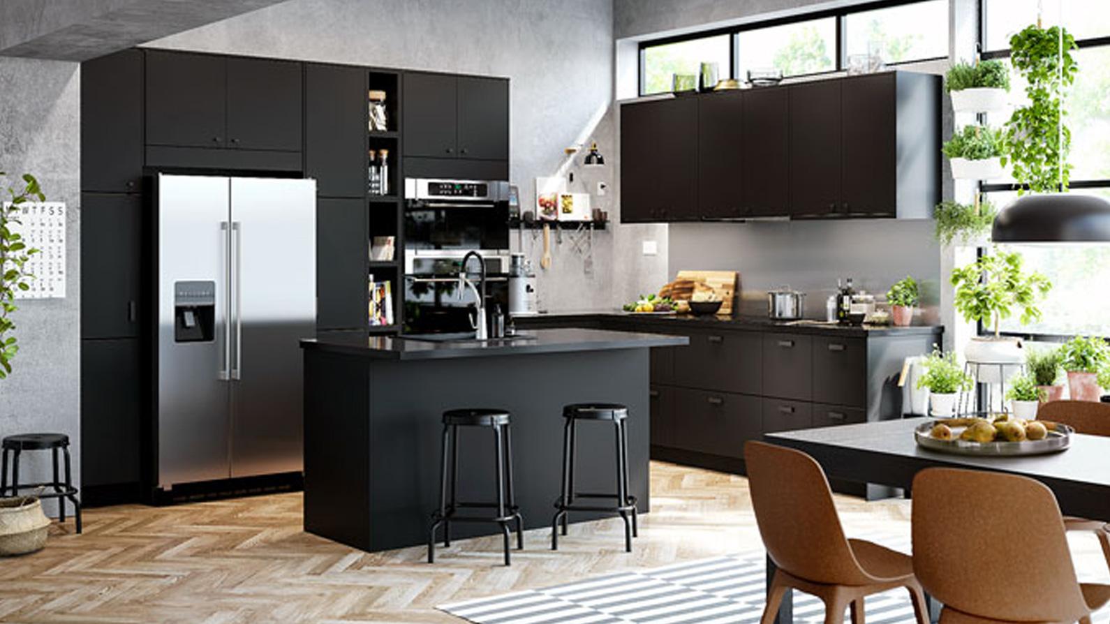 myebles de cocina negros en tarragona