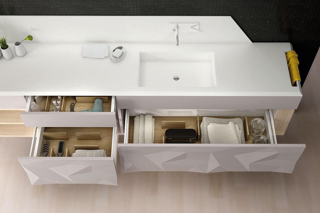 cajones mueble artica para baño